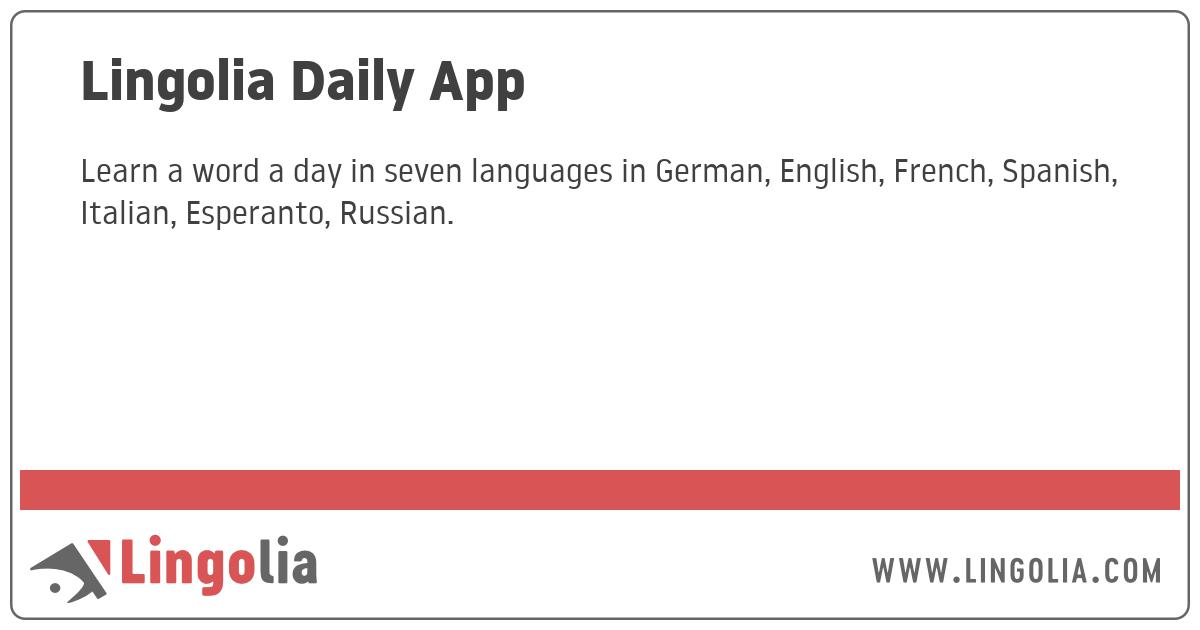 Lingolia Daily App
